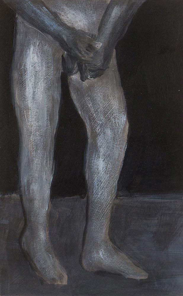 boy, Acryl, Tusche auf Papier, 21 x 16 cm, 2016, Dominik Geis