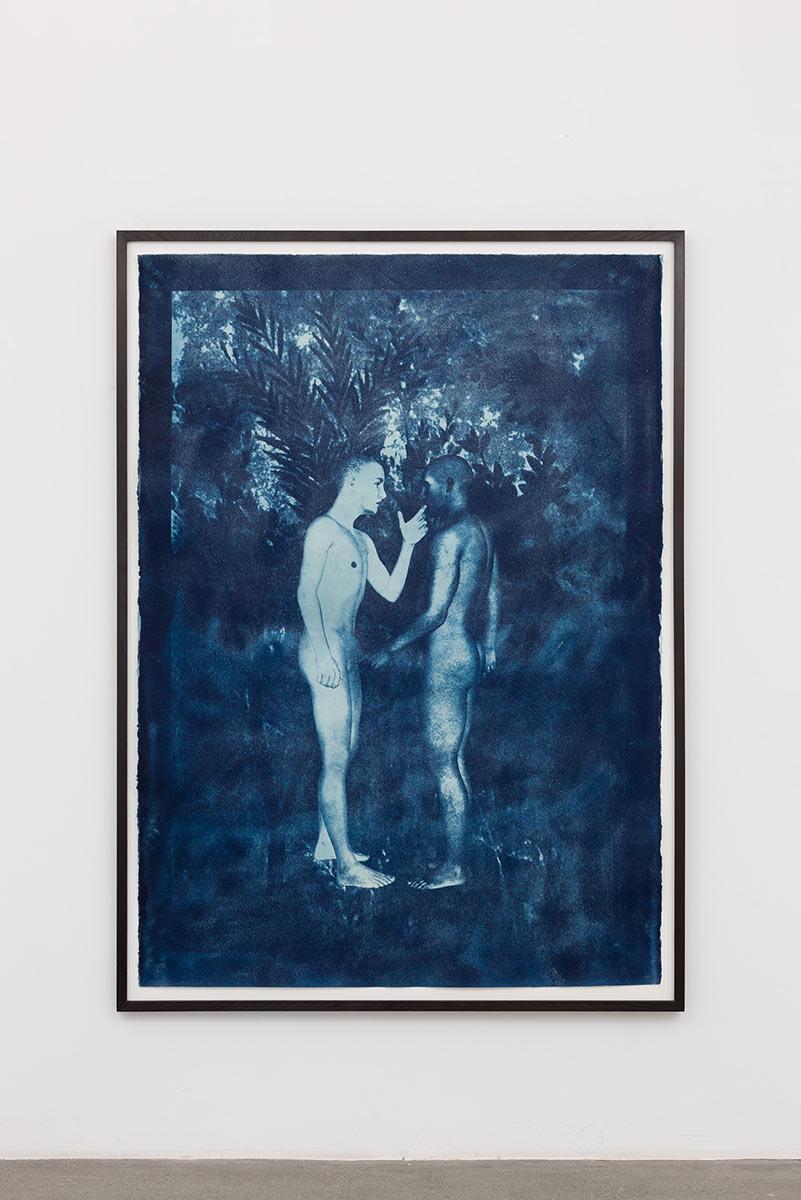 two figures, Cyanotypie auf Büttenpapier, Dominik Geis