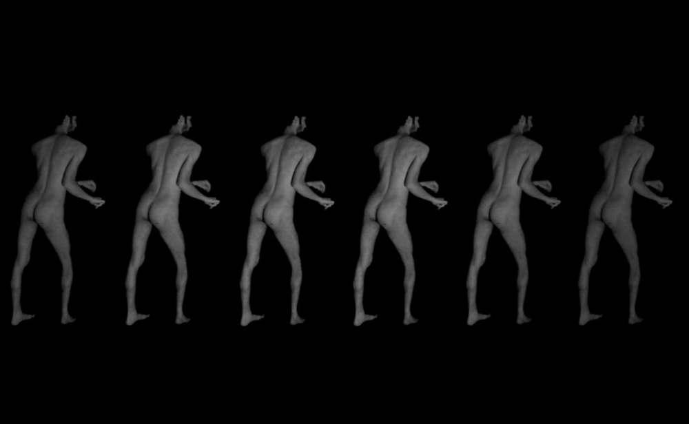 o.T. Tanz, Videoprojektion, 16:9, Loop, 2014, Dominik Geis