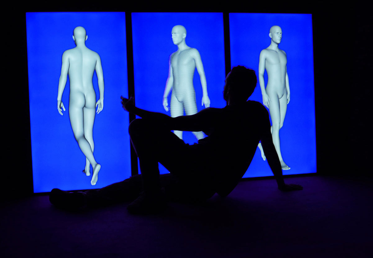 while watching a three dimensional figure, cologne, 2020, Dominik Geis