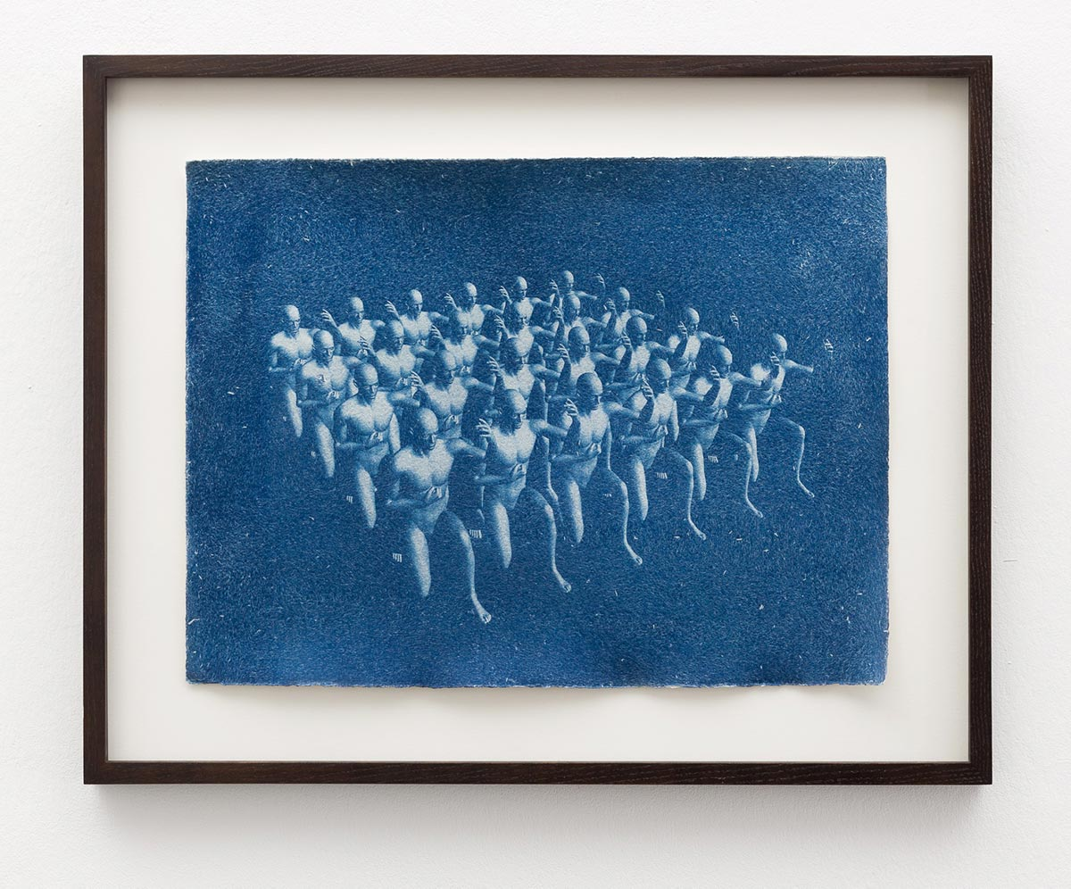 square, Cyanotypie auf Büttenpapier, 2019, Dominik Geis